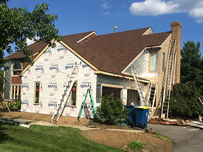 DuPont Tyvek Home Wrap further insulates and provides structural protection.
